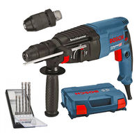 Set perforateur GBH 2-26 F Professional 2.7J (06112A4000) + 5 forets SDS Plus-5 (2608588721) dans coffret L-Case BOSCH 06112A4001