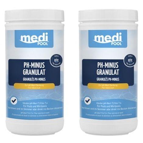 SET pH-Minus Granulat 2 x 1,5 kg von mediPOOL - 2 Dosen pH Minus