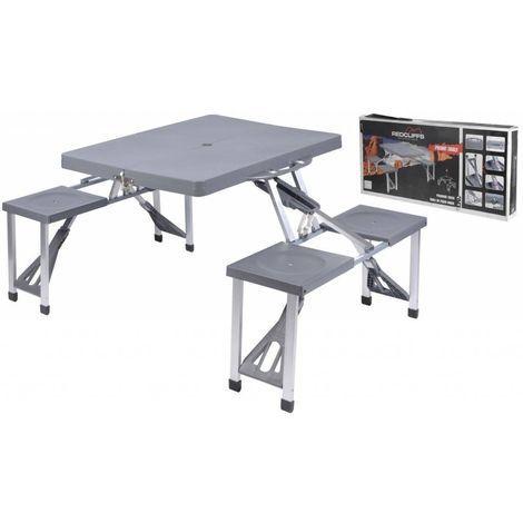 Set picnic tavolo pieghevole a valigetta con sgabelli per campeggio ...