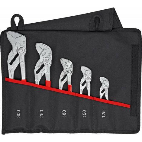 Set pinces multiprise 5 unités.en sac Knipex