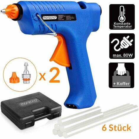 Set pistolet à colle chaude sans fil avec station de recharge et coffret système