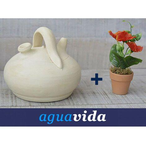 Set planta y botijo Dispensador de agua H2O 1,00 -1,5 litros Aprox. Especial para el refrigerador Hogar y Mas