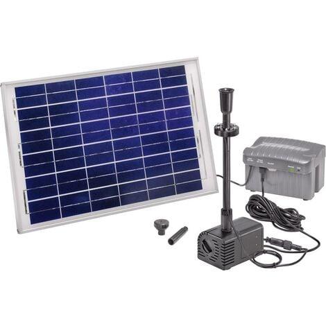 Set pompe solaire 1500 l/h Esotec 101780 avec éclairage, avec accumulateur de batterie