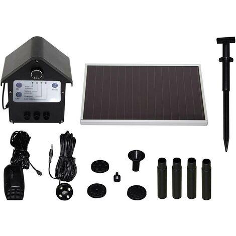 Set pompe solaire 250 l/h T.I.P. 30332 avec accumulateur de batterie, avec éclairage