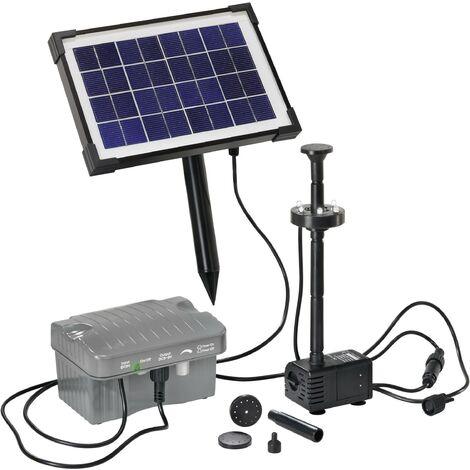 """main image of """"Set pompe solaire 330 l/h Esotec 101775 avec éclairage, avec accumulateur de batterie S44381"""""""