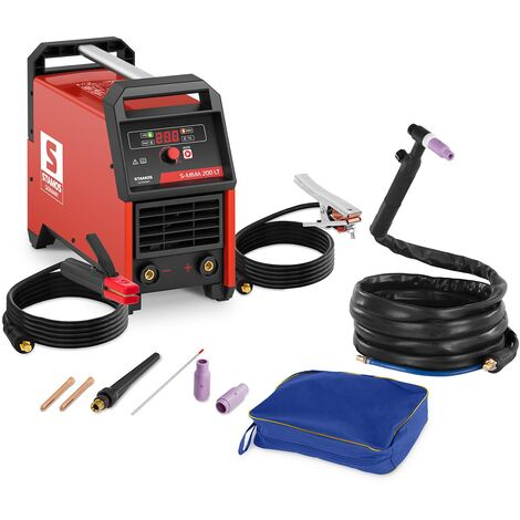 Set Poste À Souder Soudeuse Tig Mma Électrodes 200 A Lift-Arc Hot Start Cf 60 %
