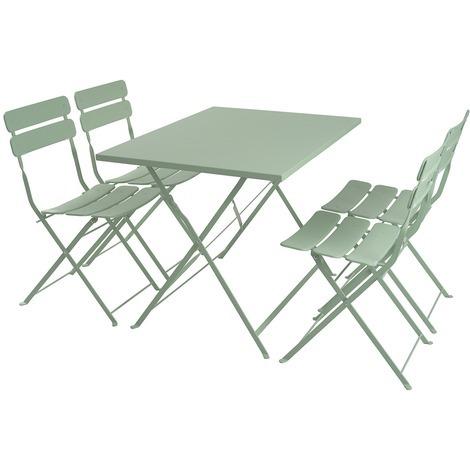 Set Pranzo Da Giardino.Set Pranzo Da Giardino Speedy Tavolo 4 Sedie Verde