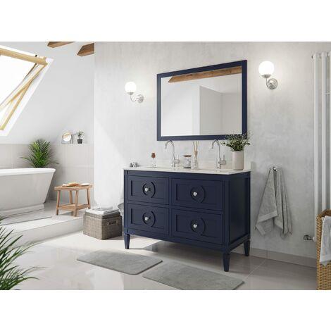 Set premontado Lavanda 120 2P. estilo rústico azul madera barnizada mármol lav.