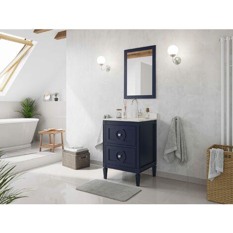 Set premontado Lavanda 60 2P. estilo rústico azul madera barnizada mármol lav.