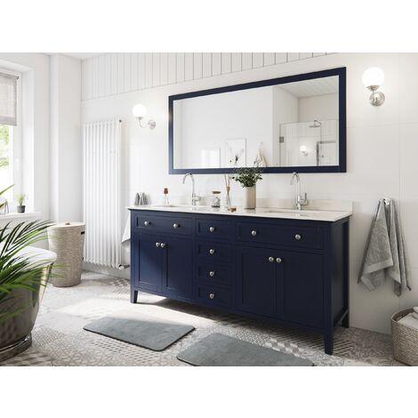 Set premontado Postigo 180 2P. estilo rústico azul madera barnizada mármol lav.