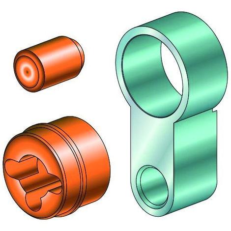 Set prolongement cylindre 25 mm Modular MX ABUS - 50MXVBG03_25