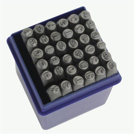 """main image of """"Set punzoni alfanumerici 36pz da 6mm - LETTERE + NUMERI"""""""