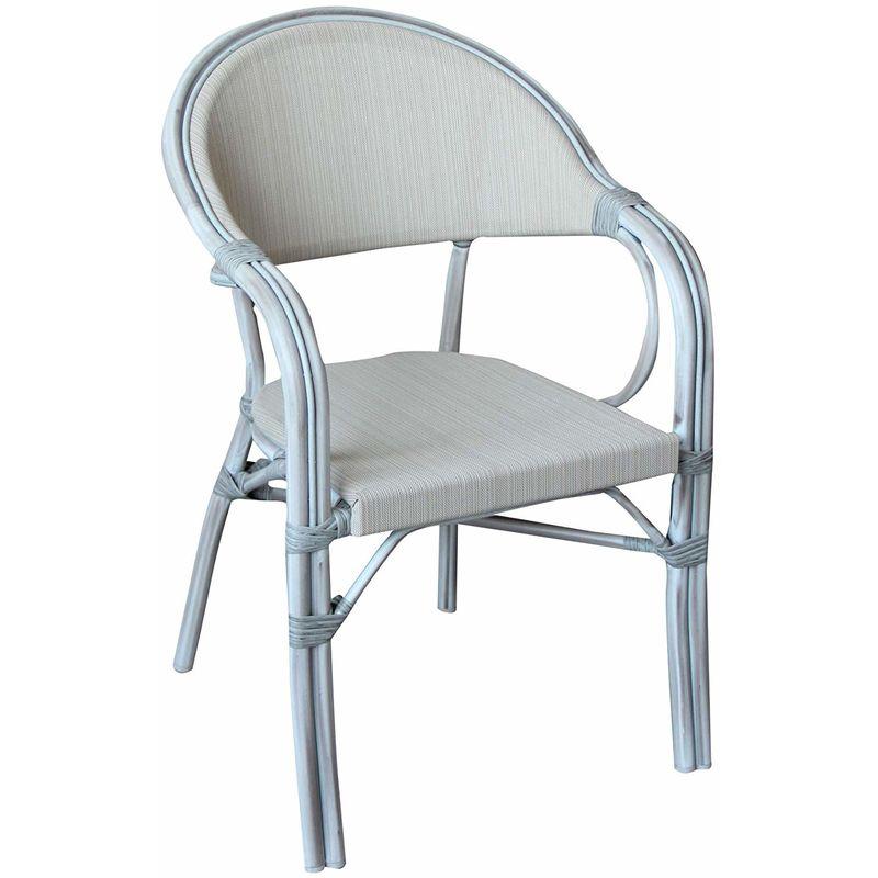 Sedie In Alluminio E Legno.Set Quatro Sedie In Alluminio Effetto Legno Sbiancato Impilabili