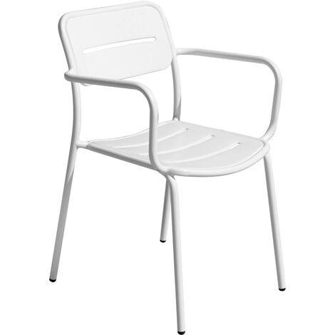 Set quattro sedie per bar e giardini impilabili con