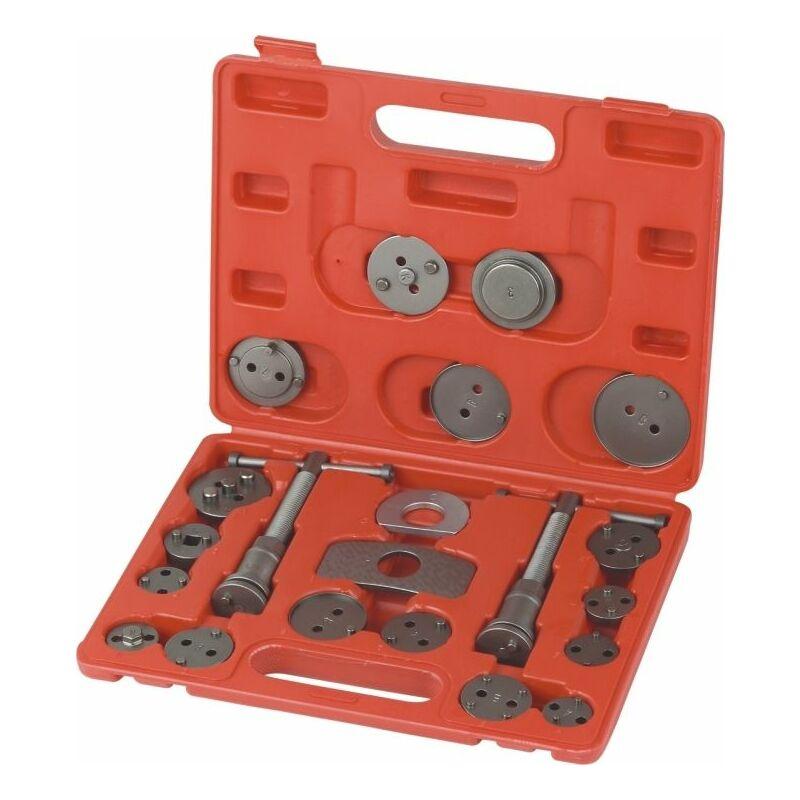 Varan Motors - VT01027 Set Repousse piston d'étrier de frein, Kit d'outils 22 pièces - Rouge