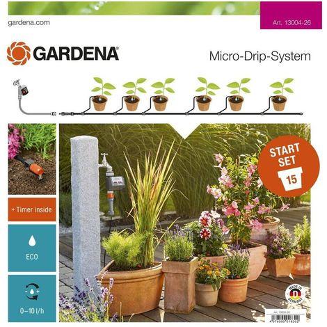 Set riego inicio para macetas automático Gardena