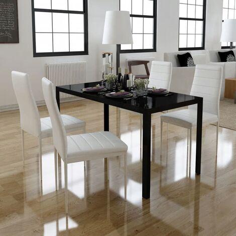 Tavolo Cristallo 4 Sedie.Set Sala Da Pranzo Con Tavolo Con Piano In Vetro E 4 Sedie