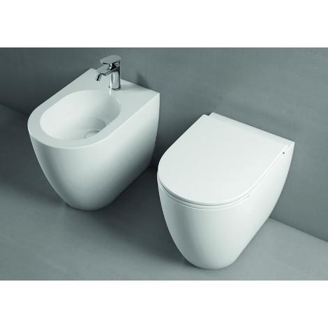 Azzurra Ceramica Schede Tecniche.Set Sanitari Filomuro 51 5 Cm Azzurra Ceramica Serie Comoda Bianco