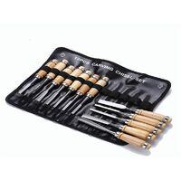 Set scalpelli sgorbie per legno intaglio legno scalpellini 12pz