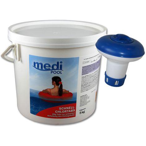 SET: Schnell-ChlorTabs 20g, 5 KG und 1 x Minidosierer