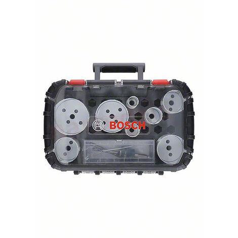 Set scie trépan Progressor Plombier BOSCH 9 pièces - Ø 19-25-30-35-40-68 - 2608594191