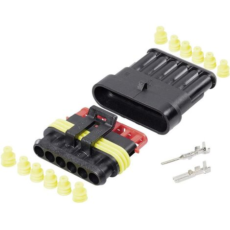 Set Superseal série AMP-Superseal 1.5mm TE Connectivity 30S007 Nbr total de pôles 6 Pas: 6 mm 1 set