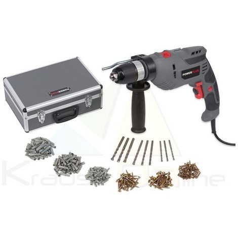 Set taladro eléctrico percutor rev. 720w + 259 accesorios (POWESET6)