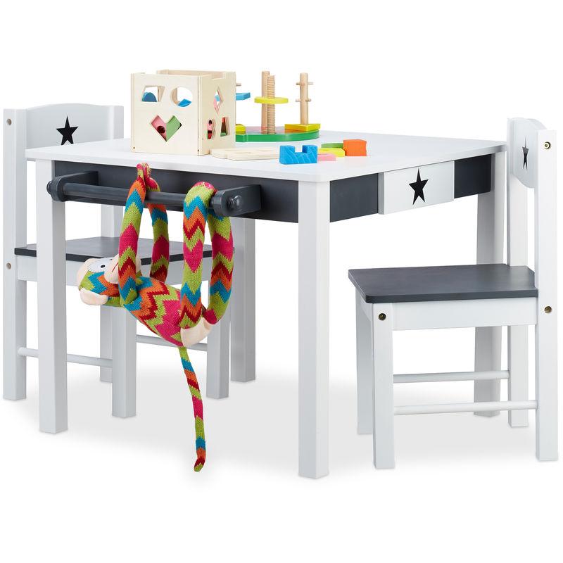 Set Tavolino con 2 Sedie in Legno STAR, Tavolo e Sedioline ...