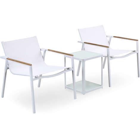 Tavolo Con Piano In Vetro.Set Tavolo 2 Sedie In Alluminio Tavolo Con Piano In Vetro