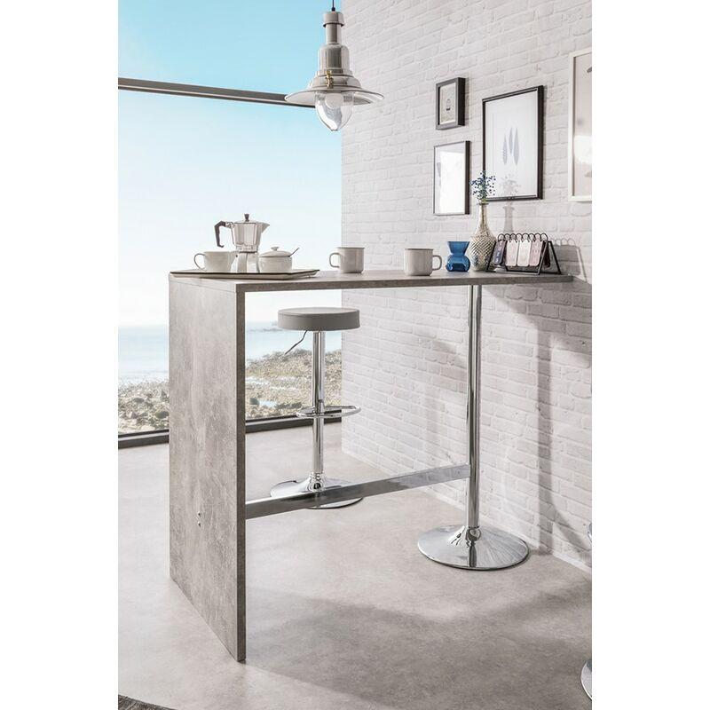 Sgabelli Per Bancone Cucina.Set Tavolo Bar Alto 120x60 Grigio Mobile Bancone Per Sgabelli Da