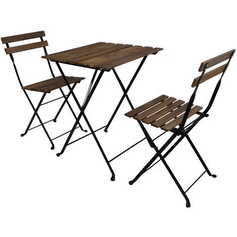 Sedie Giardino Legno Ikea.Set Tavolo Bar E 2 Sedie Marrone Noce Sedie Salotto Relax Caffe Legno Ferro Ikea