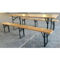 Set Tavolo Birreria in legno massello e acciaio