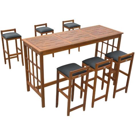 Set Tavolo con 6 Sgabelli da Bar Cucina Giardino Esterno con ...