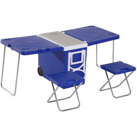 Tavolo E Sedie Campeggio.Set Tavolo Da Campeggio Con Box Refrigerante E 2 Sedie
