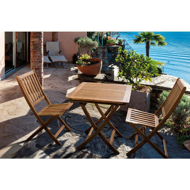 Tavoli E Sedie Da Giardino Bizzotto.Set Tavolo Da Giardino In Legno Acacia Pieghevole Con 2 Sedie Esterno Bizzotto