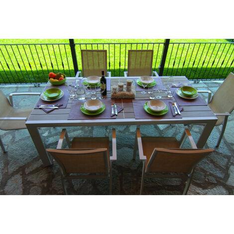 Tavolo Bianco Da Esterno.Set Tavolo Da Pranzo Estensibile In Alluminio Da Esterno Giardino Cleveland Bianco