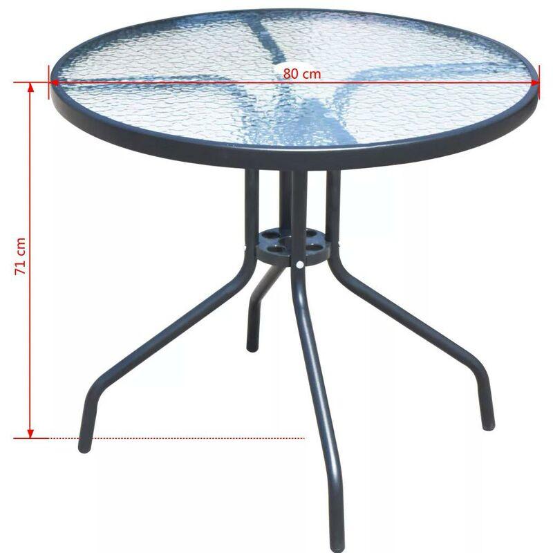 Sedie Pieghevoli Per Esterno.Set Tavolo E 4 Sedie Pieghevoli Da Giardino In Metallo E Textilene