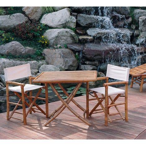 Set Tavolo E Sedie Da Giardino In Legno.Set Tavolo E Sedie Da Giardino In Legno Di Bambu
