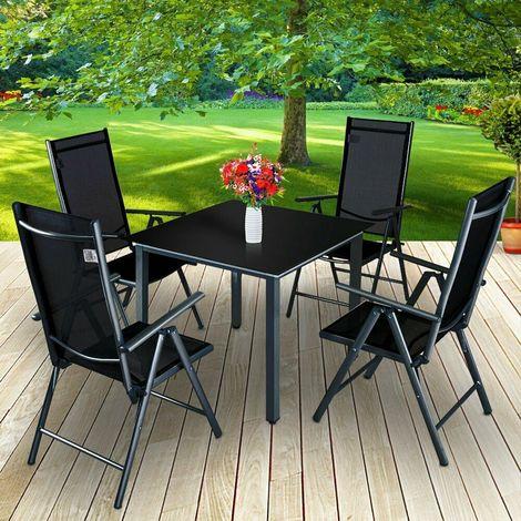 Set Tavolo E Sedie Da Giardino.Set Tavolo E Sedie Pieghevoli In Alluminio Da Giardino Arredo Esterni 2 Colori