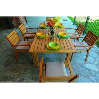 tavolo pieghevole estensibile legno balau flower 120 160x80x74h arredo giardino