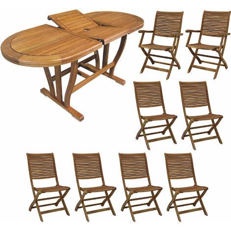 Tavolo legno sedie giardino acacia al miglior prezzo