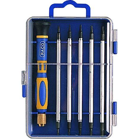 Set tournevis de precision (12 outils, 1 manche: 4 torx, 4plat, 4ph )