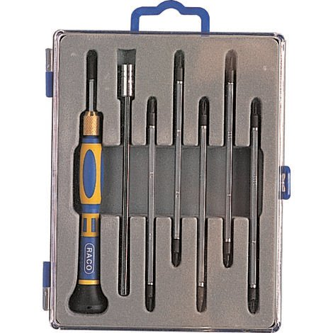 Set tournevis de precision bi-matiere torx (13 outils, 1 manche) -RT34/545B