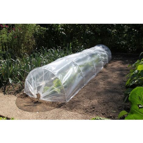 Set túnel de plástico para cultivos con lámina Nature 6030204