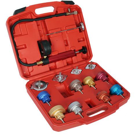 Set universal comprobación rellenado sistema refrigeración 14 piezas para diversos modelos automóvil