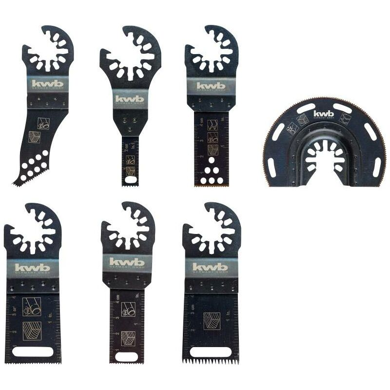 708000 Outil multifonction Accessoires KWB Universel-Set 7 pièces pour découper