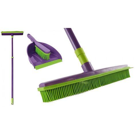 Set york broom stick rubber + brush + dustpan