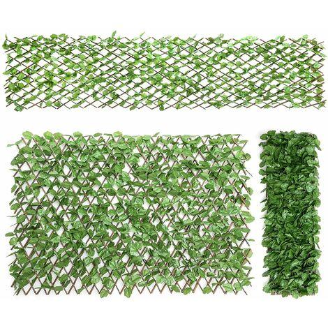 Seto Artificial de Pared Hojas de Hiedra Pantalla de Privacidad Seto Decoración para Jardín Patio Balcón