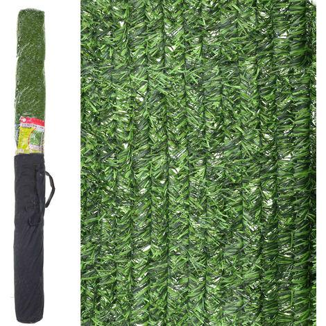 Seto artificial ocultación verde de material plástico de 3x2 metros