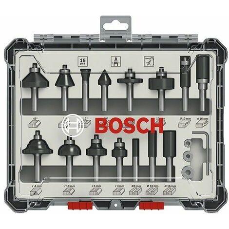 Sets de brocas fresadoras mixtas de 15 piezas de 8mm BOSCH 2607017472